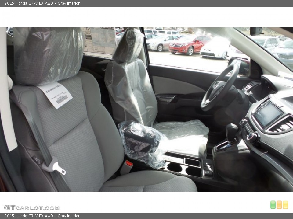 Gray Interior Photo for the 2015 Honda CR-V EX AWD #102976831