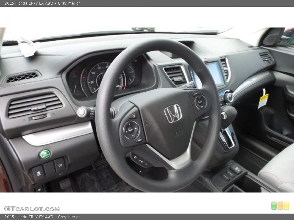 Gray Interior Dashboard for the 2015 Honda CR-V EX AWD #102976838