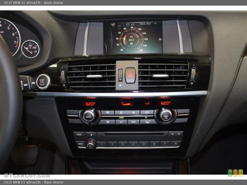 Black Interior Controls for the 2015 BMW X3 sDrive28i #103080234