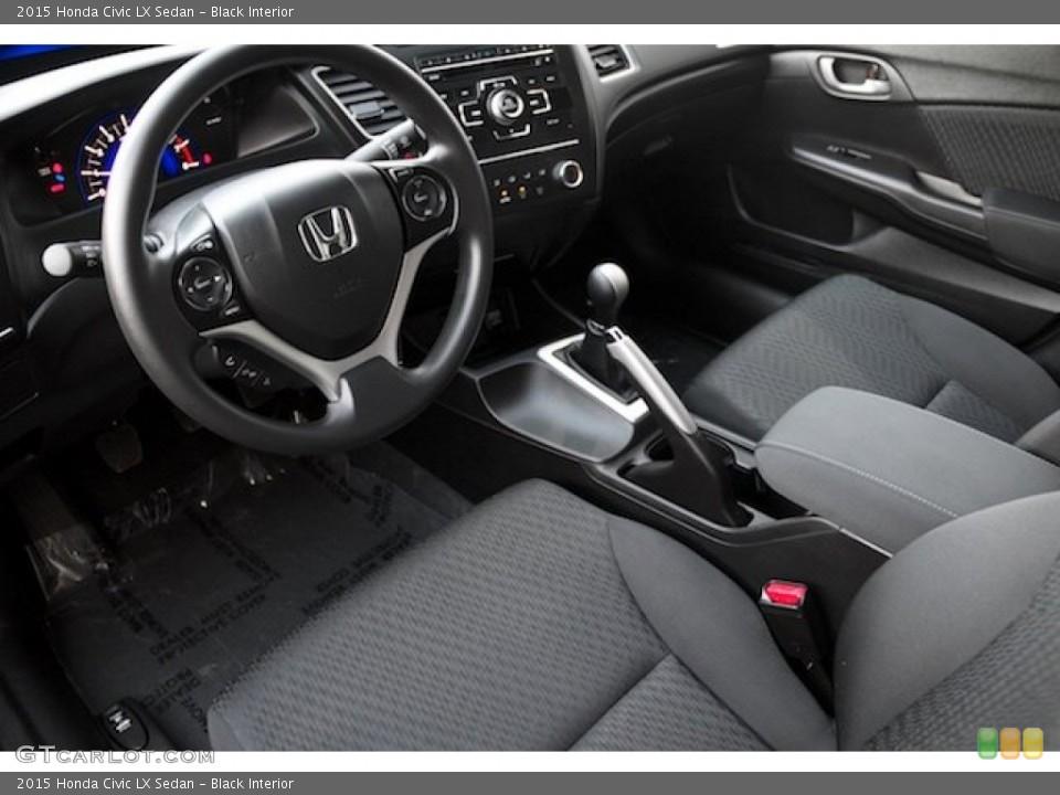 Black 2015 Honda Civic Interiors