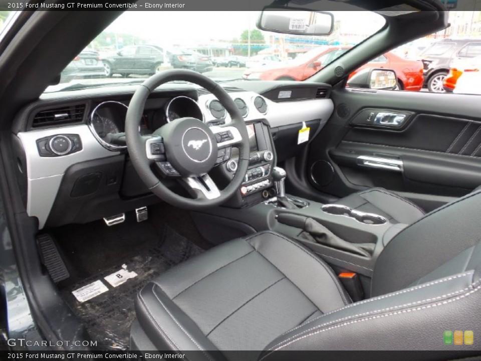 Ebony 2015 Ford Mustang Interiors
