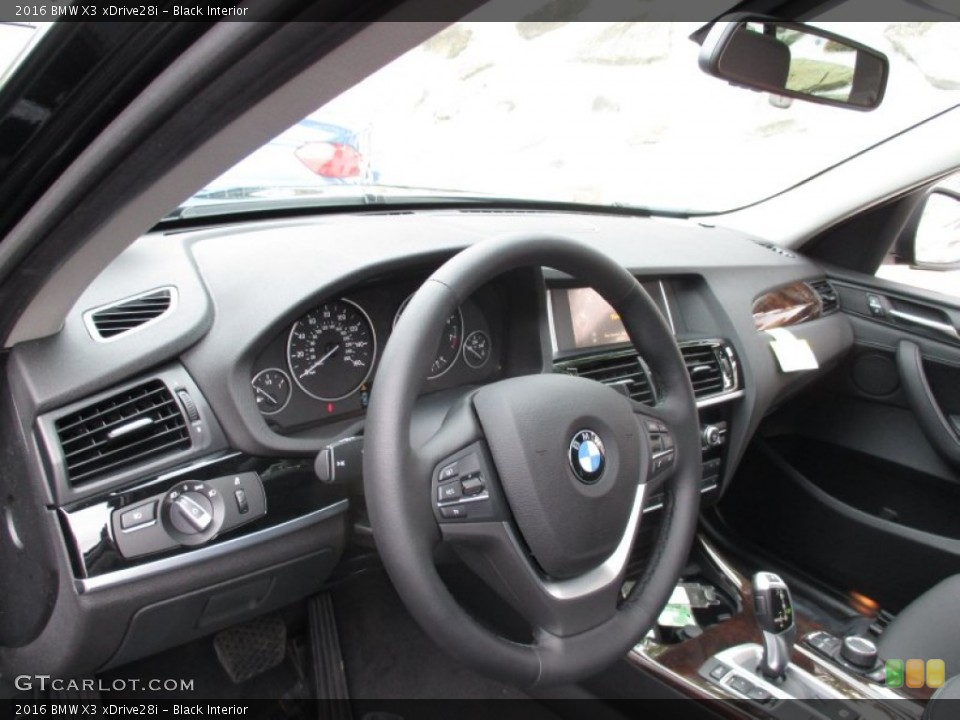 Black Interior Dashboard for the 2016 BMW X3 xDrive28i #104135323
