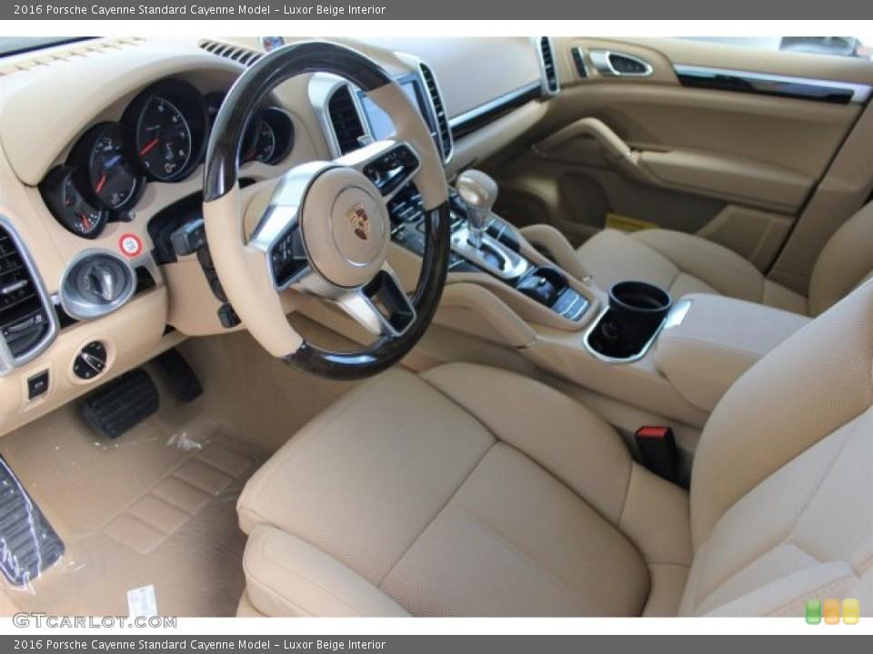 luxor beige interior prime interior for the 2016 porsche cayenne 104684441 - 2016 Porsche Cayenne Interior
