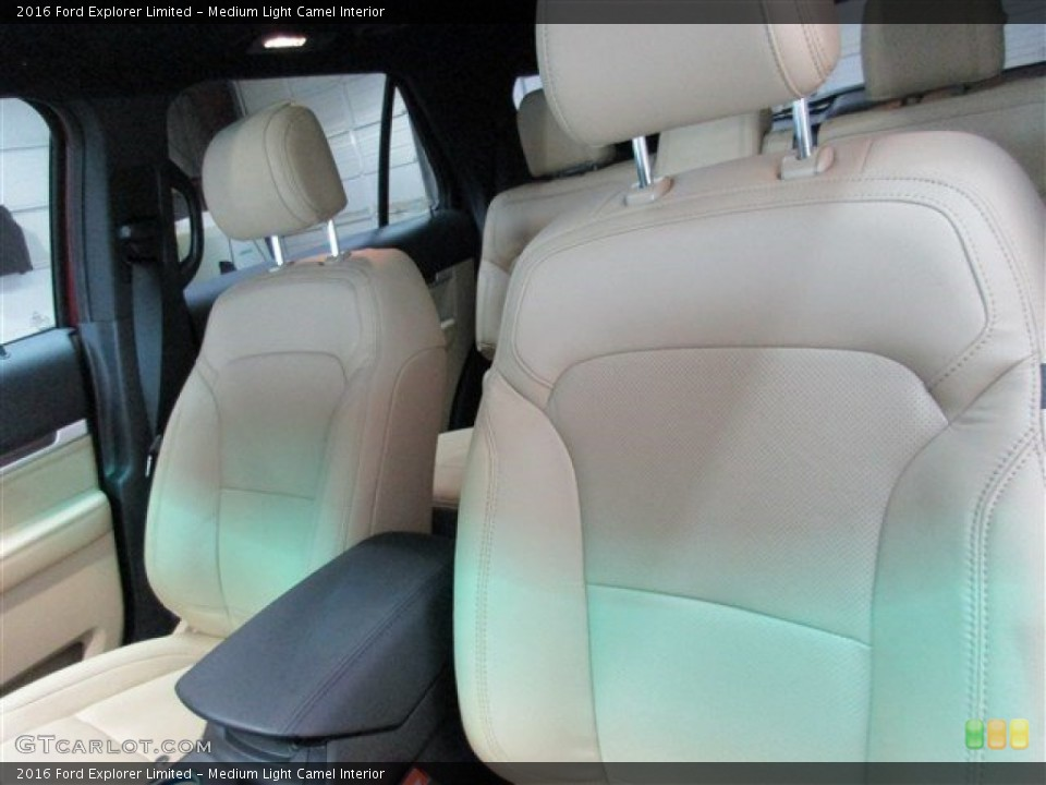 Medium Light Camel Interior Front Seat for the 2016 Ford Explorer Limited #104692947