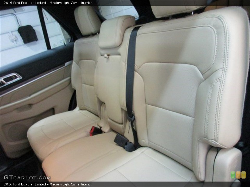 Medium Light Camel Interior Rear Seat for the 2016 Ford Explorer Limited #104692956