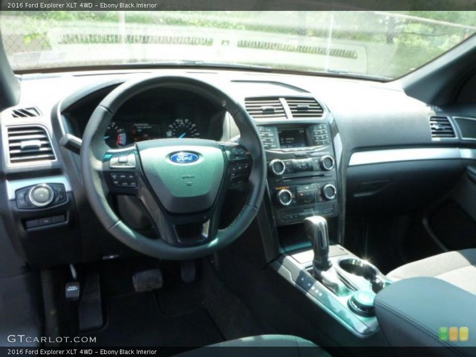 Ebony Black Interior Prime Interior for the 2016 Ford Explorer XLT 4WD #104725034
