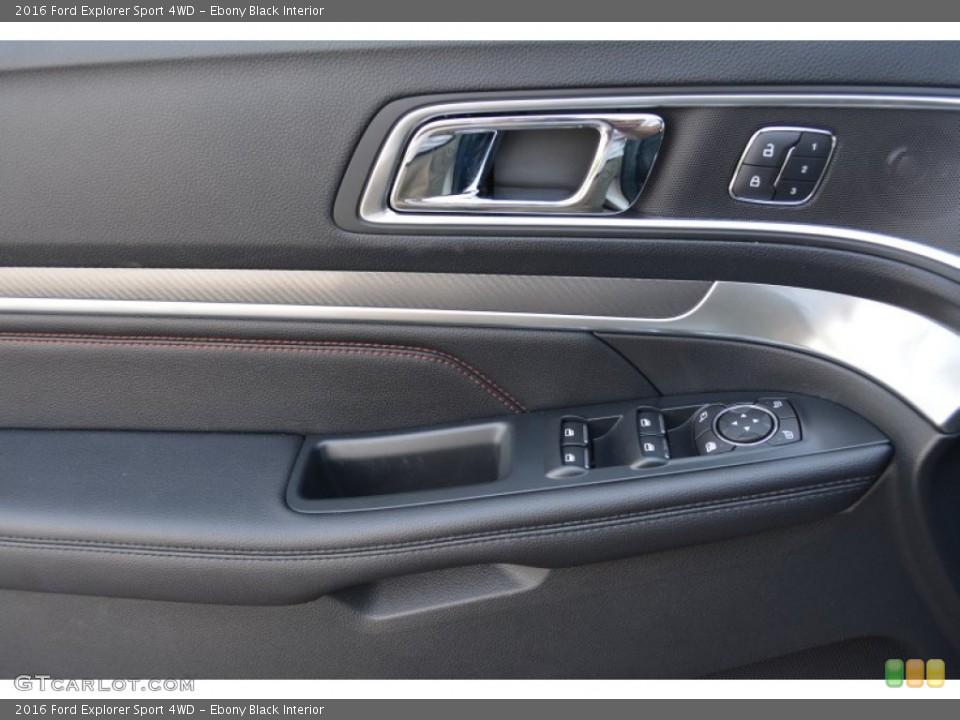 Ebony Black Interior Controls for the 2016 Ford Explorer Sport 4WD #104920667