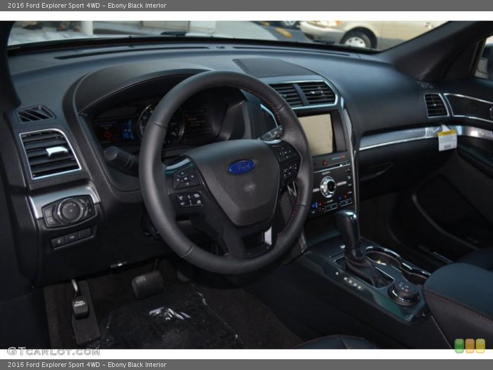 Ebony Black Interior Dashboard for the 2016 Ford Explorer Sport 4WD #104920683