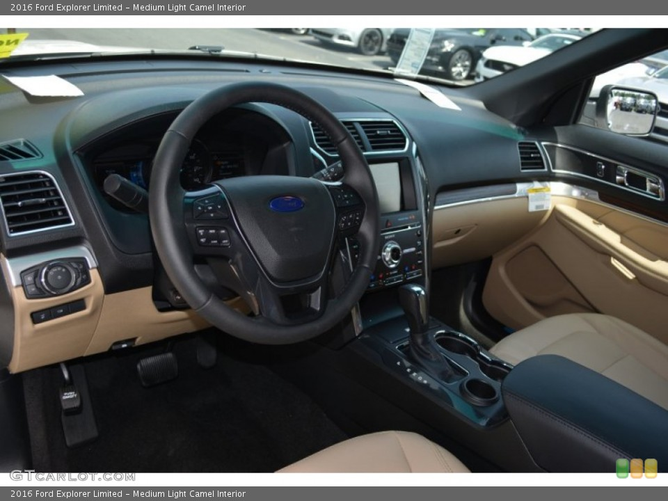 Medium Light Camel Interior Dashboard for the 2016 Ford Explorer Limited #105118334