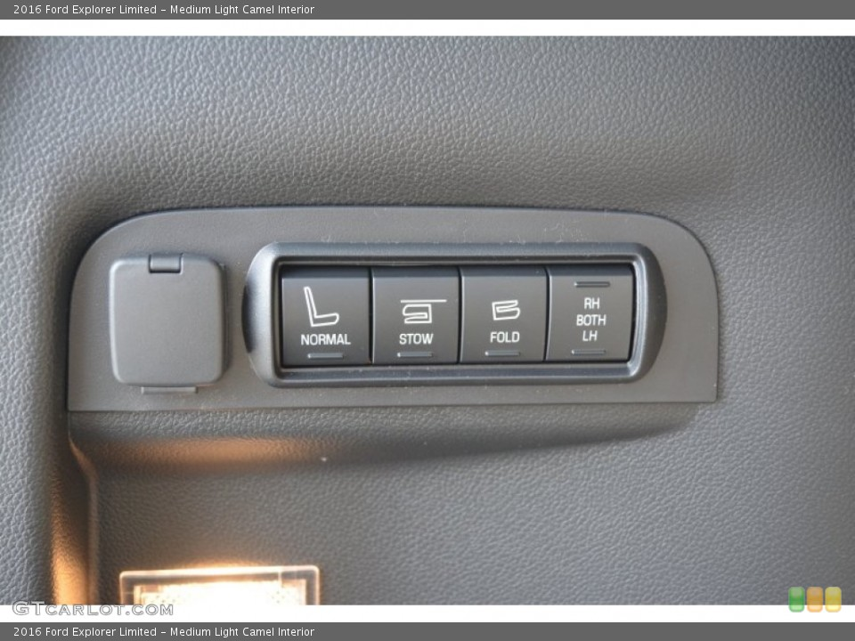 Medium Light Camel Interior Controls for the 2016 Ford Explorer Limited #105118419
