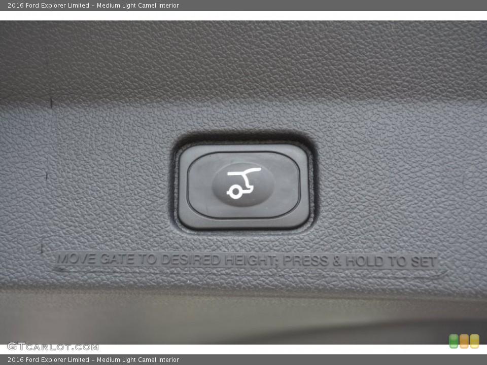 Medium Light Camel Interior Controls for the 2016 Ford Explorer Limited #105118440