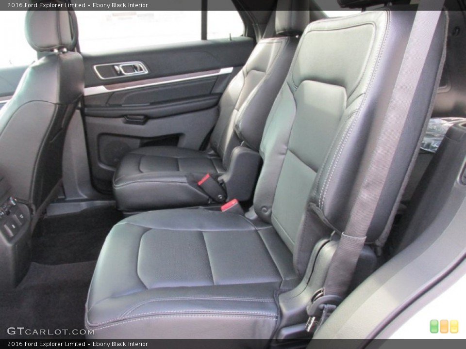 Ebony Black Interior Rear Seat for the 2016 Ford Explorer Limited #105221351