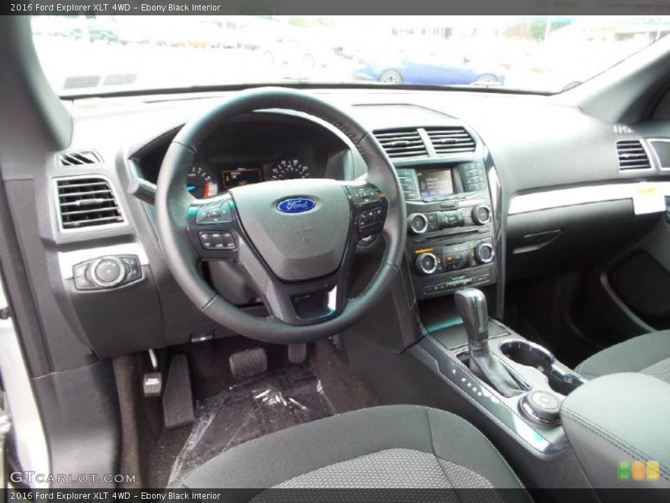 Ebony Black Interior Prime Interior for the 2016 Ford Explorer XLT 4WD #105231209