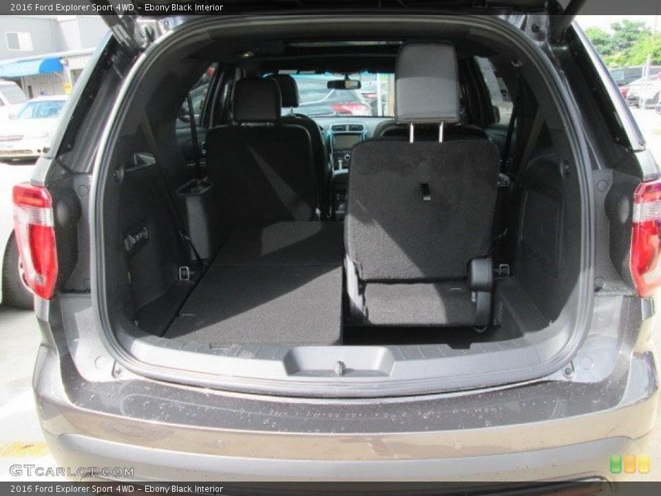 Ebony Black Interior Trunk for the 2016 Ford Explorer Sport 4WD #105252900