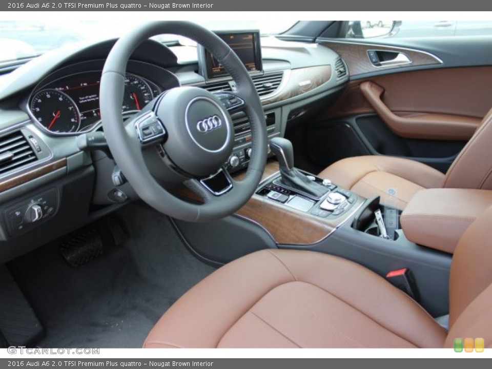 Nougat Brown Interior Photo for the 2016 Audi A6 20 TFSI Premium