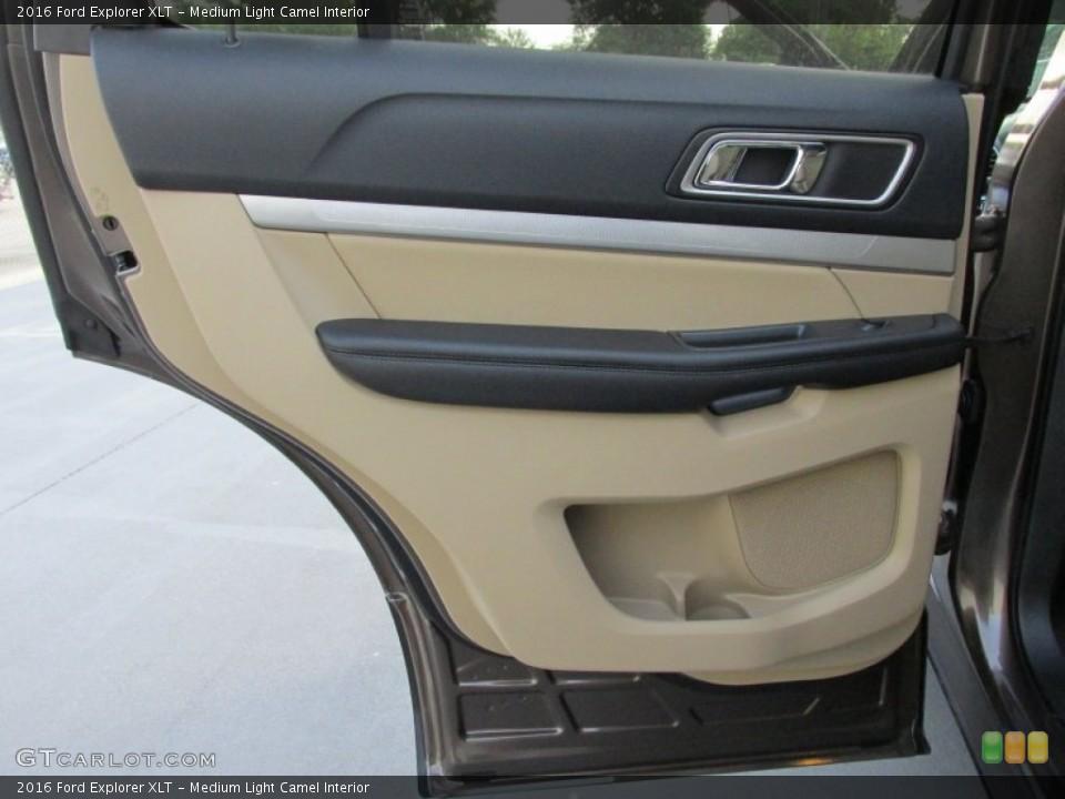 Medium Light Camel Interior Door Panel for the 2016 Ford Explorer XLT #105487104