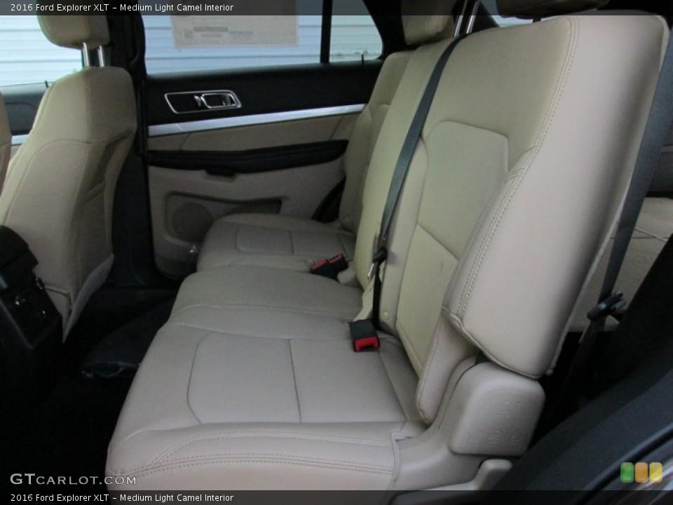 Medium Light Camel Interior Rear Seat for the 2016 Ford Explorer XLT #105487115