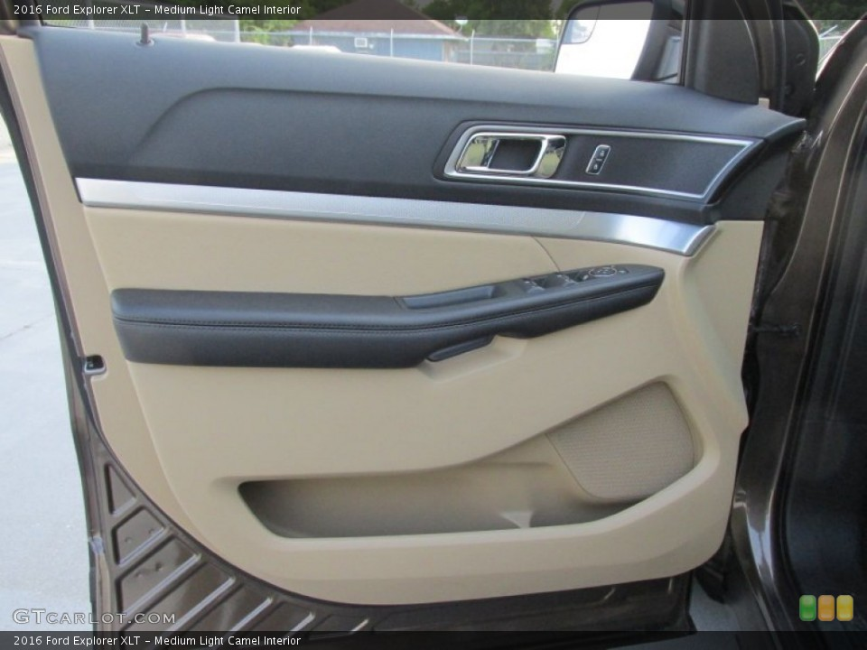 Medium Light Camel Interior Door Panel for the 2016 Ford Explorer XLT #105487125