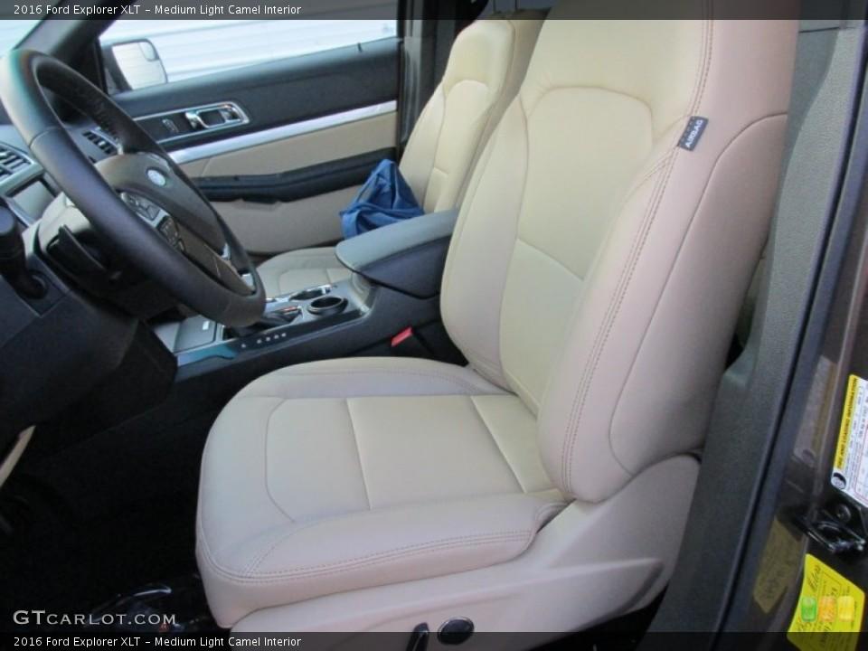Medium Light Camel Interior Front Seat for the 2016 Ford Explorer XLT #105487143