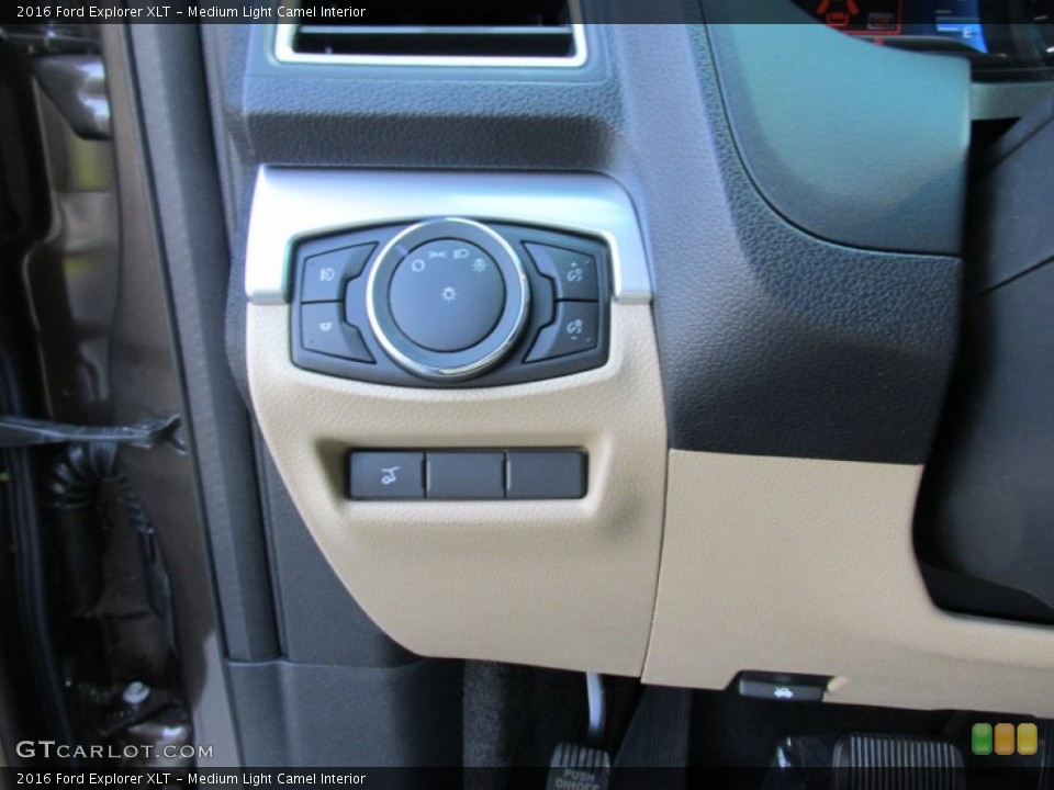 Medium Light Camel Interior Controls for the 2016 Ford Explorer XLT #105487230