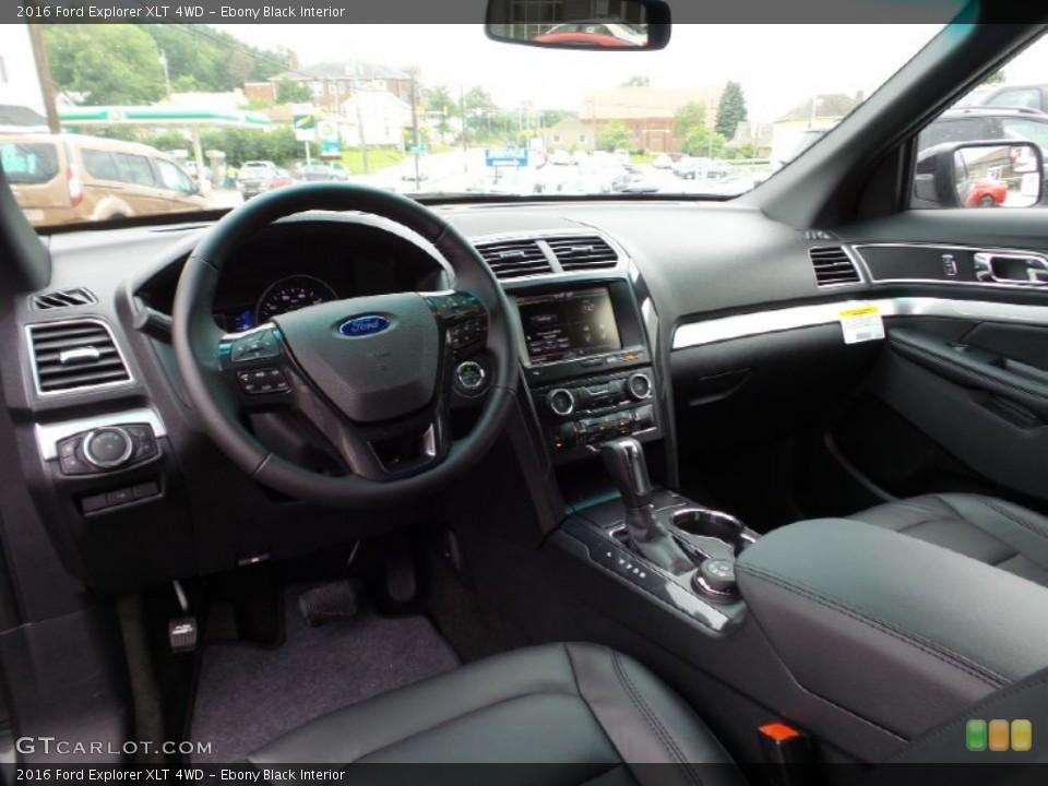 Ebony Black Interior Prime Interior for the 2016 Ford Explorer XLT 4WD #105507568