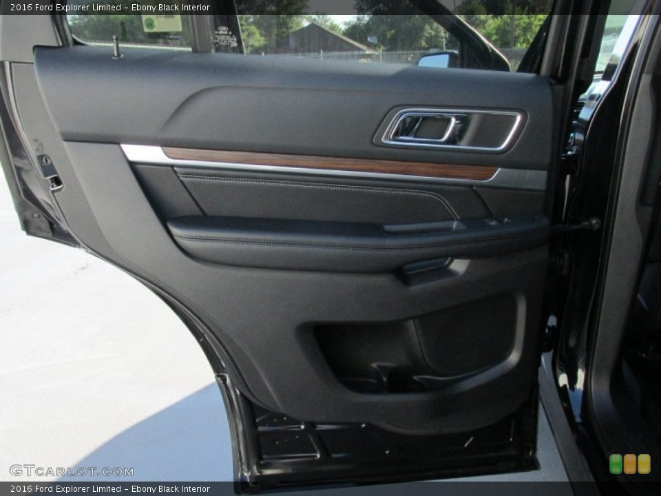 Ebony Black Interior Door Panel for the 2016 Ford Explorer Limited #105519680