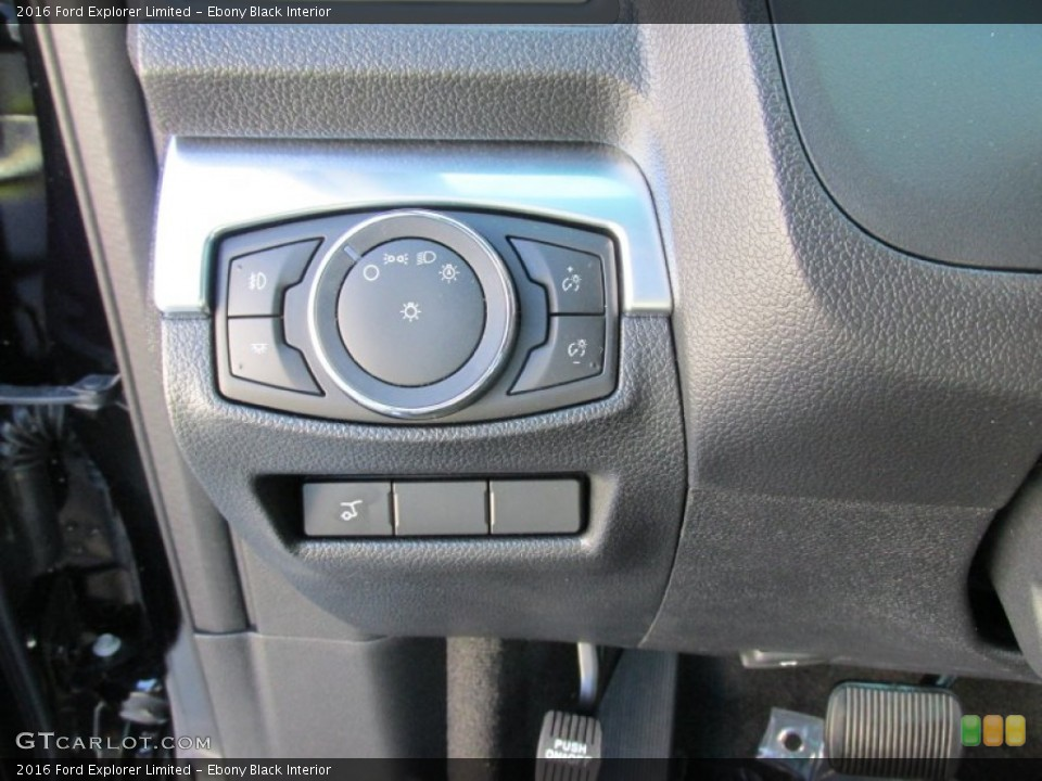 Ebony Black Interior Controls for the 2016 Ford Explorer Limited #105519971