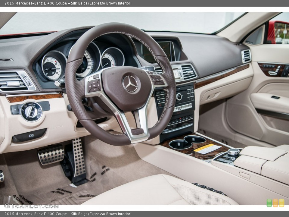 Silk Beige/Espresso Brown 2016 Mercedes-Benz E Interiors