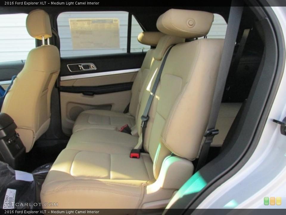 Medium Light Camel Interior Rear Seat for the 2016 Ford Explorer XLT #105885912
