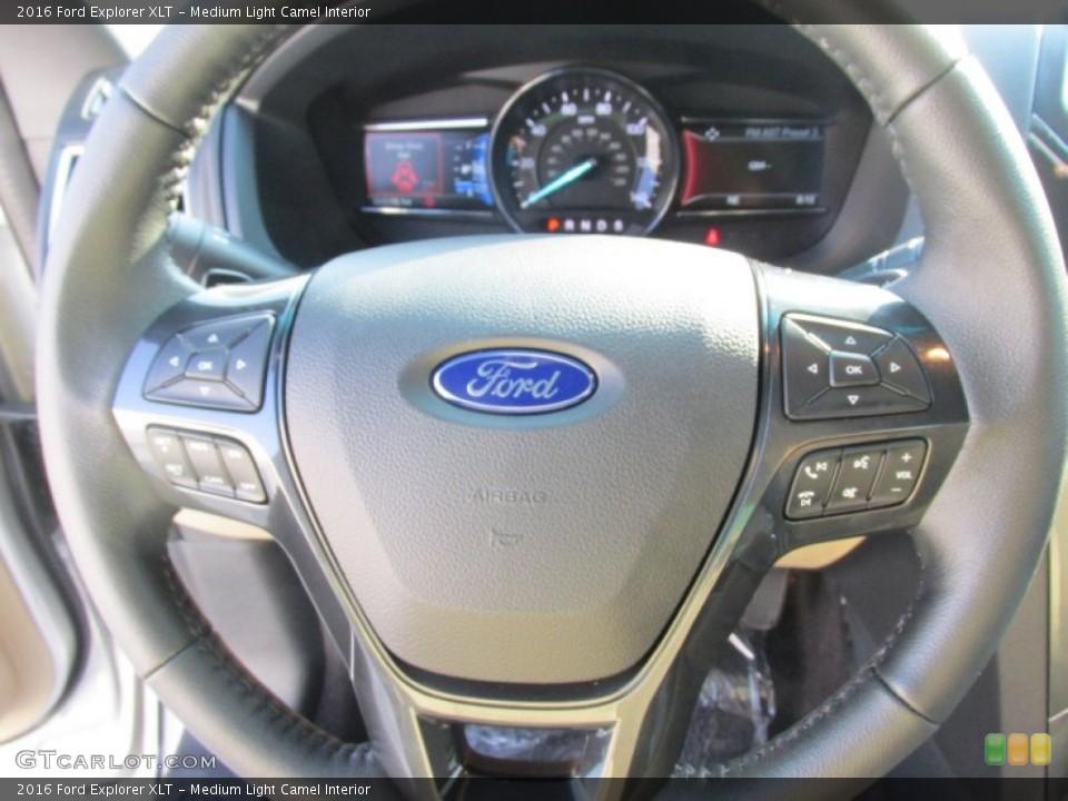 Medium Light Camel Interior Steering Wheel for the 2016 Ford Explorer XLT #105886140