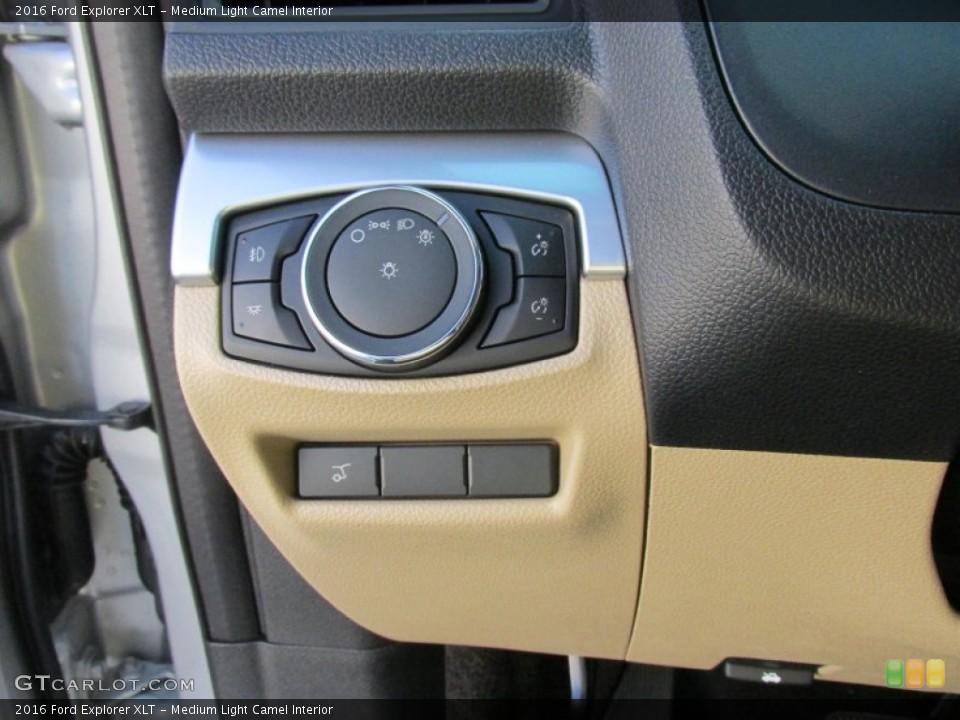 Medium Light Camel Interior Controls for the 2016 Ford Explorer XLT #105886182