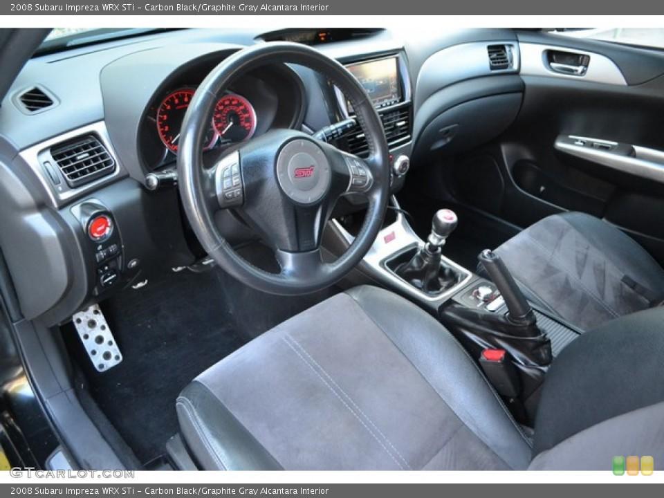 Carbon Black/Graphite Gray Alcantara Interior Photo for the 2008 Subaru Impreza WRX STi #105958521