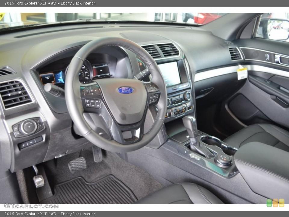 Ebony Black Interior Photo for the 2016 Ford Explorer XLT 4WD #106018451