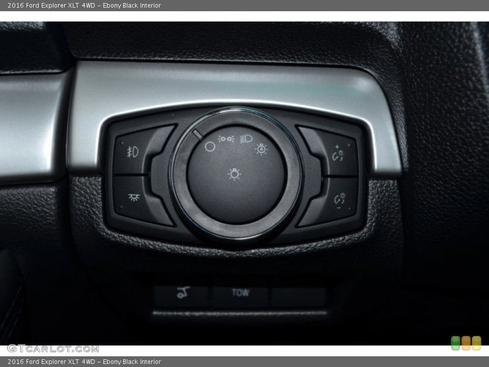 Ebony Black Interior Controls for the 2016 Ford Explorer XLT 4WD #106018691