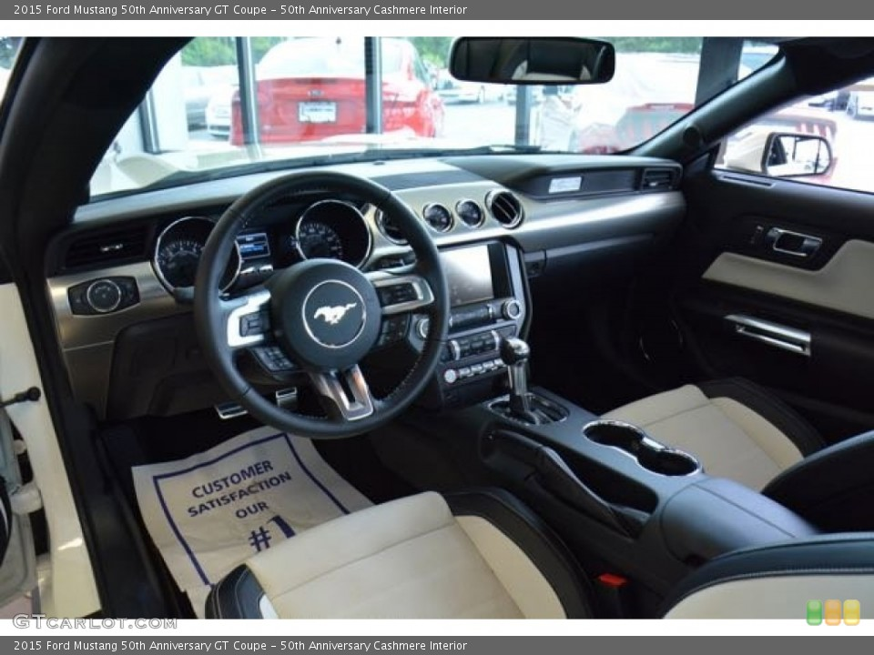 50th Anniversary Cashmere 2015 Ford Mustang Interiors