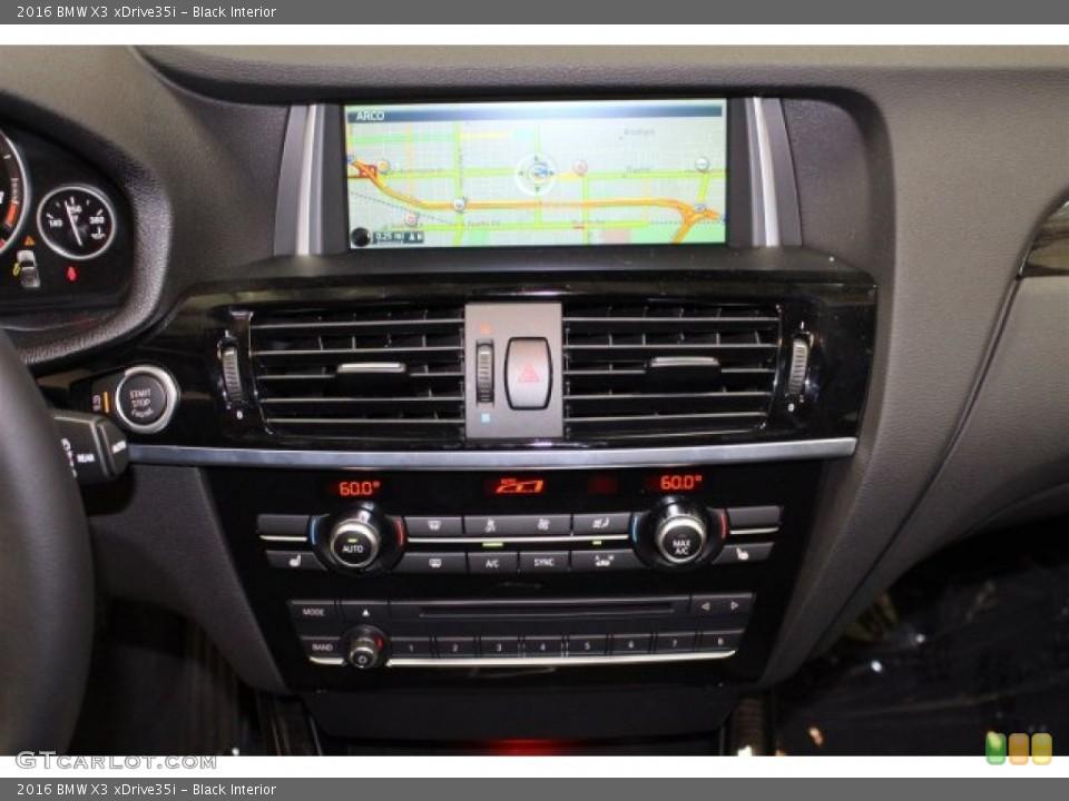 Black Interior Controls for the 2016 BMW X3 xDrive35i #106133317