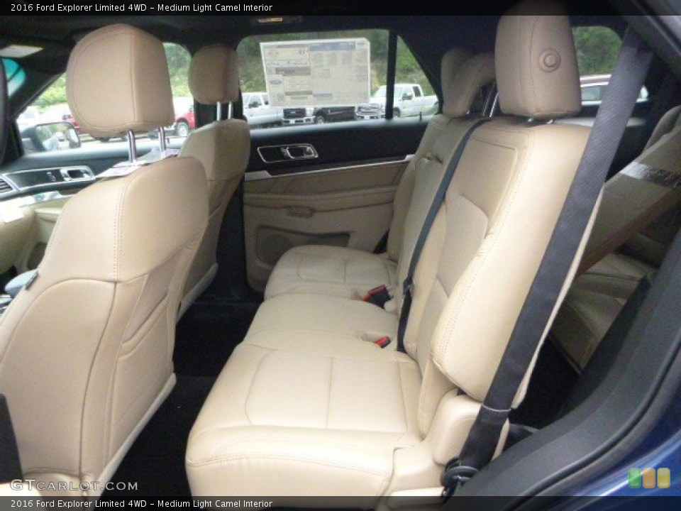 Medium Light Camel Interior Rear Seat for the 2016 Ford Explorer Limited 4WD #106292835
