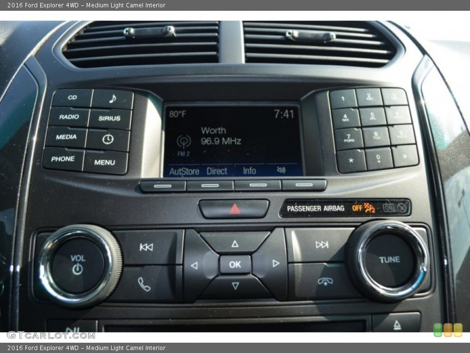 Medium Light Camel Interior Controls for the 2016 Ford Explorer 4WD #106383200