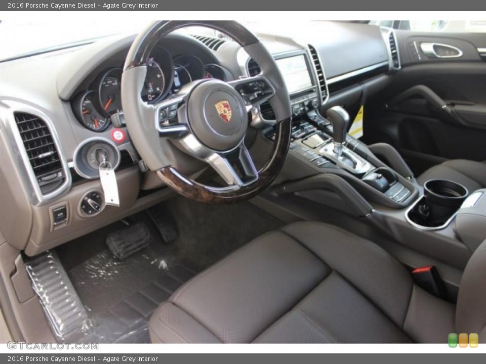 agate grey interior prime interior for the 2016 porsche cayenne diesel 106430331 - 2016 Porsche Cayenne Interior