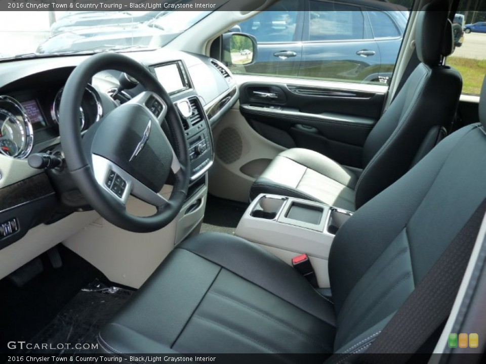 Black/Light Graystone Interior Photo for the 2016 Chrysler Town & Country Touring #106483558