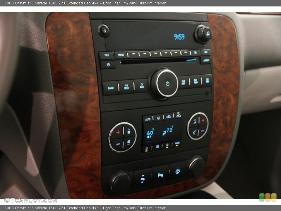 Light Titanium/Dark Titanium Interior Controls for the 2008 Chevrolet Silverado 1500 Z71 Extended Cab 4x4 #106540996