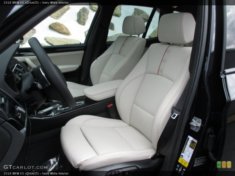 Ivory White Interior Front Seat for the 2016 BMW X3 xDrive35i #106625404