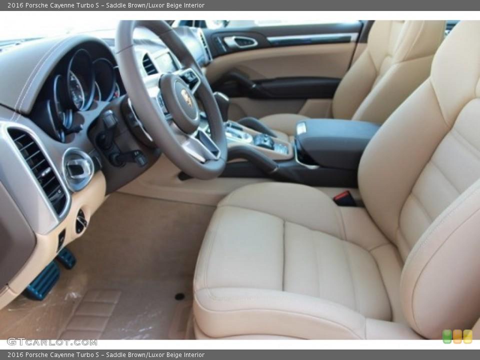 saddle brownluxor beige interior front seat for the 2016 porsche cayenne turbo s - 2016 Porsche Cayenne Interior