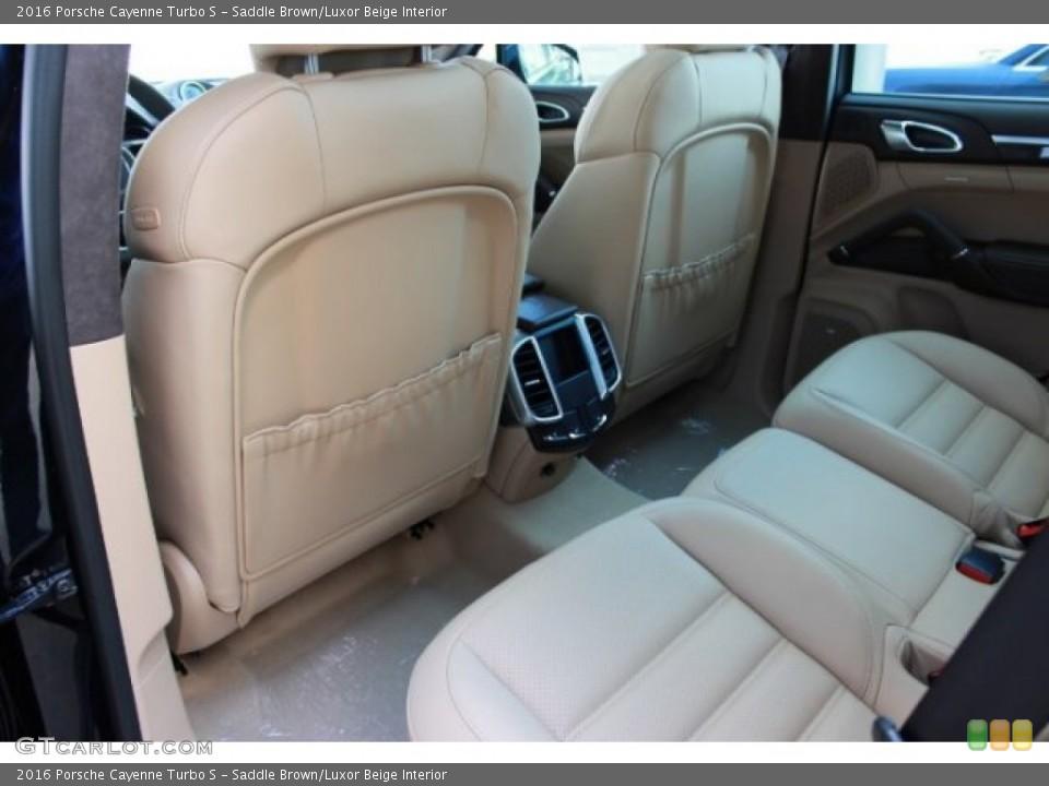 saddle brownluxor beige interior rear seat for the 2016 porsche cayenne turbo s