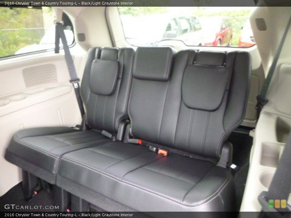 Black/Light Graystone Interior Rear Seat for the 2016 Chrysler Town & Country Touring-L #106775015