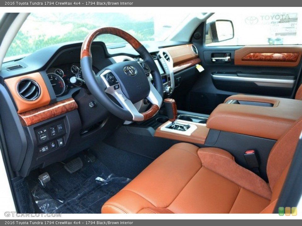 1794 Black/Brown Interior Photo for the 2016 Toyota Tundra 1794 CrewMax 4x4 #106809114
