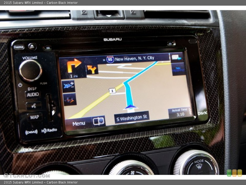 Carbon Black Interior Navigation for the 2015 Subaru WRX Limited #106809624