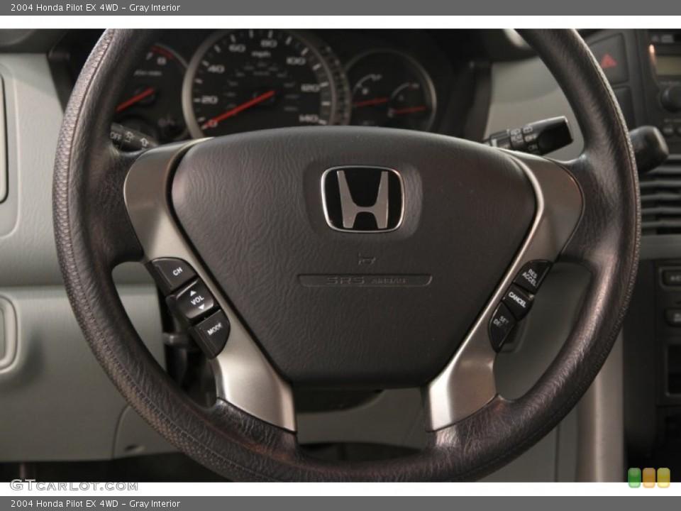 Gray Interior Steering Wheel for the 2004 Honda Pilot EX 4WD #106953027
