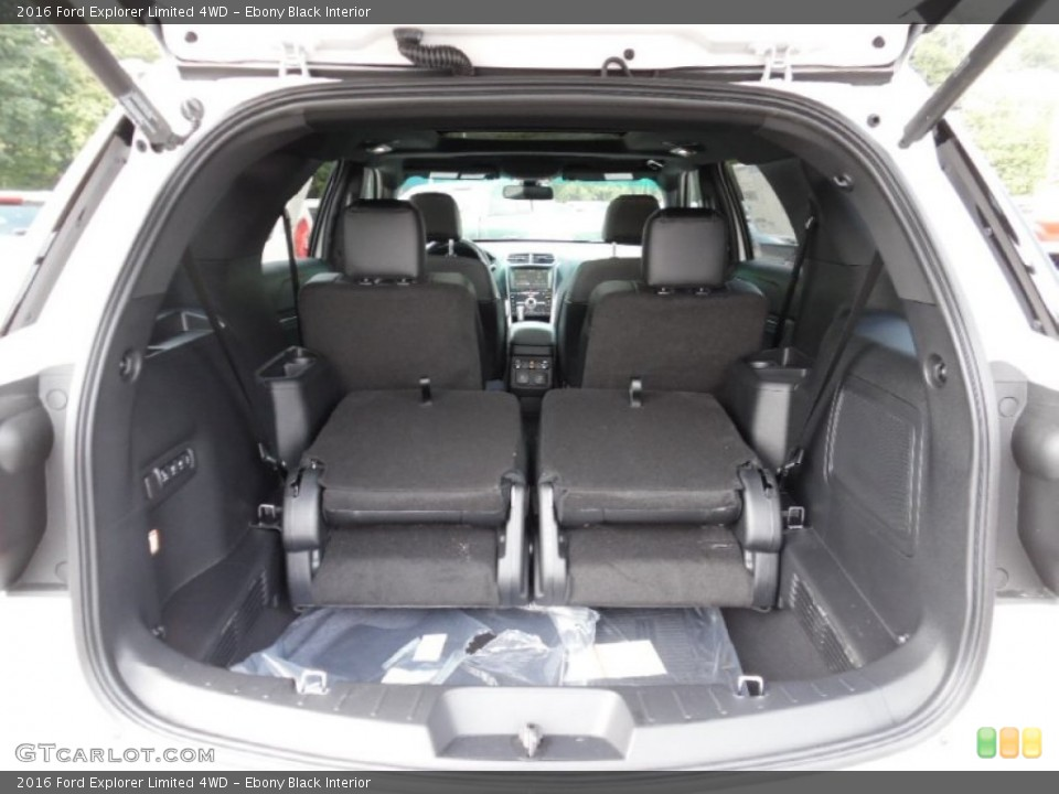 Ebony Black Interior Trunk for the 2016 Ford Explorer Limited 4WD #106991353