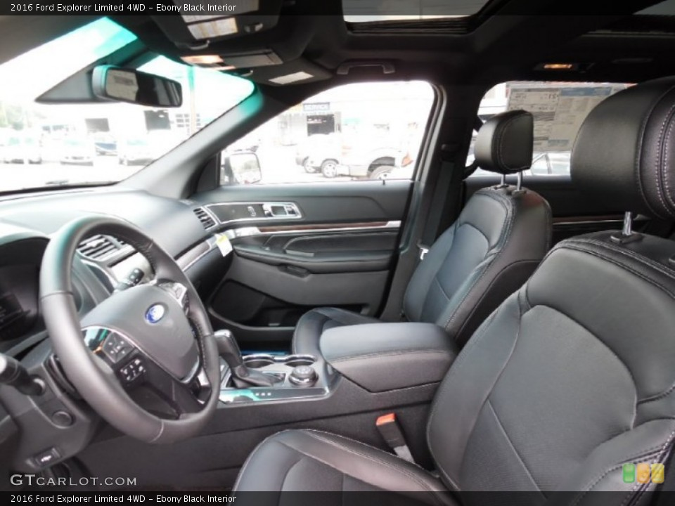 Ebony Black Interior Photo for the 2016 Ford Explorer Limited 4WD #106991548